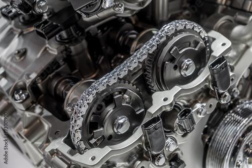 Fotografie, Obraz  Car engine camshaft cutaway
