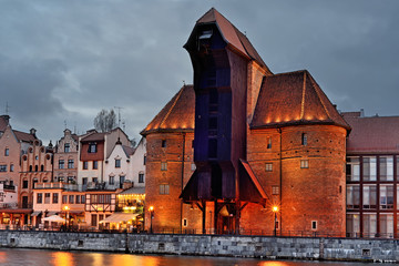 Fototapeta Gdańsk Old town of Gdansk