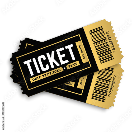 two pair vector ticket isolated isolated on white background