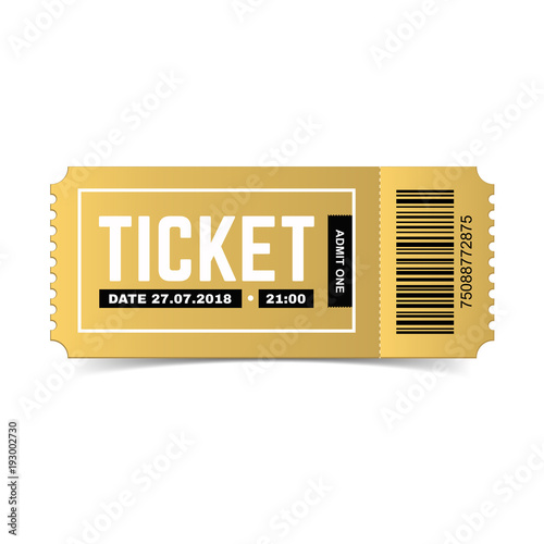 vector golden ticket isolated on white background luxury premium