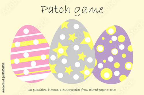 photograph relating to Colored Paper Printable identified as Training Patch match eggs for little ones in direction of produce engine