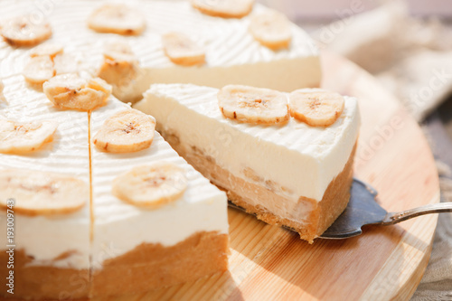 Fotografia, Obraz  Delicious banana cake on table