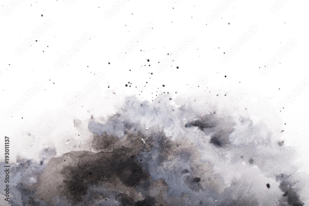 Fototapeta  gray watercolor