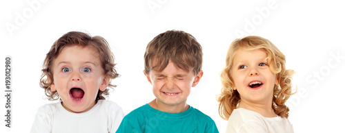Fotografie, Obraz  Three surprising children