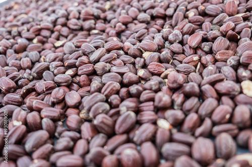 Obraz na plátně Jojoba beans background. Selective focus