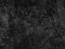 Natural Black Volcanic Seamless Stone Texture Venetian Plaster Background. Dark Volcanic Rock Venetian Plaster Stone Texture Grain Pattern. Black Seamless Grunge Charcoal Background Texture Rock Coal