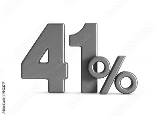 Fotografia  forty one percent on white background. Isolated 3D illustration