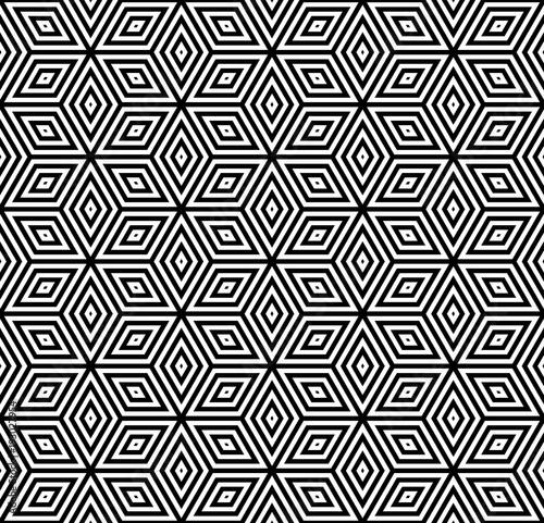 Seamless geometric pattern. 3D illusion.