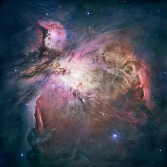 Fototapeta na wymiar Great Nebula in Orion, Messier 42. Elements of this image furnished by NASA. Retouched image.