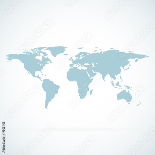 World Map Blank. World Map Vector. World Map Flat. World Map Template. World  Map Object. World Map Eps. World Map Infographic. World Map Clean.
