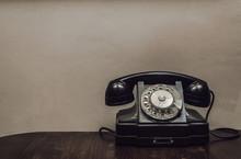 Retro Rotary Telephone On The ...