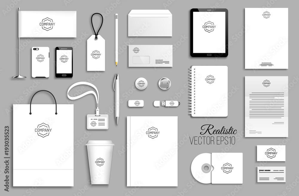 Fototapeta Corporate identity template set.