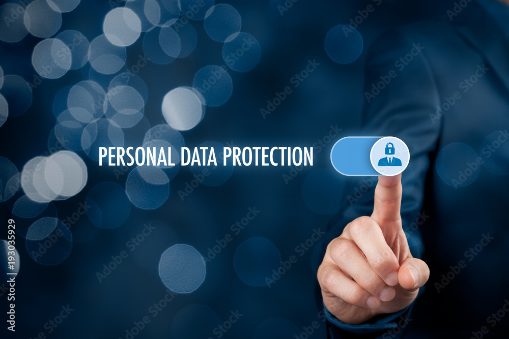 Fototapety, obrazy: Personal data protection concept