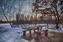Winter Hdr Sunset Sky Landscap...