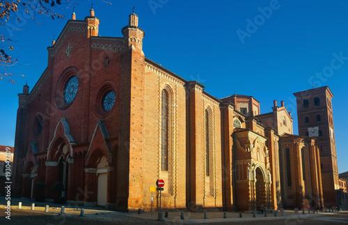 Cathedral of Santa Maria Assunta in Asti, Italy Canvas Print