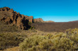Volcano Teide and lava scenery in Teide National Park, Rocky volcanic landscape of the caldera of Teide national park in Tenerife, Canary Islands, Spain