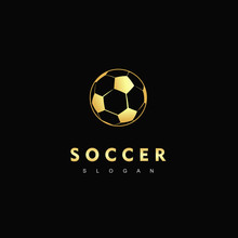 Gold Soccer Logo Team