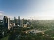 Kuala Lumpur City skyline with blue sky background. Kuala Lumpur city landscape