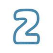 2 Webbing Tape Letter Logo Icon Design