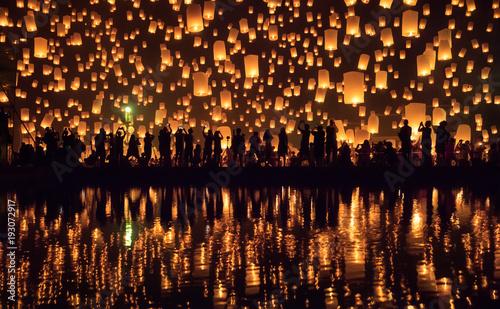 Yi Peng festival, Chiang Mai, Thaïlande