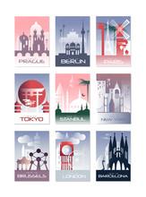 City Cards Set, Landscape Temp...