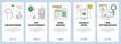 Vector modern thin line web development concept banner set