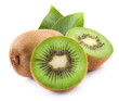 canvas print picture - kiwi with leaves