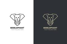 Stylized Geometric Elephant He...