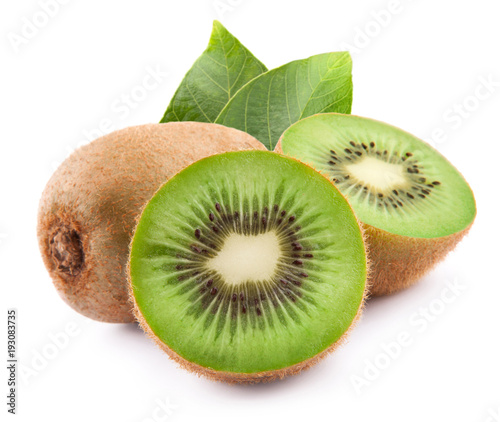 Fototapeta kiwi with leaves