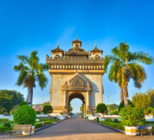 Patuxay Monument In Vientiane,...