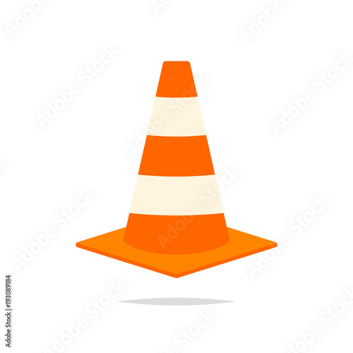 Fototapeta  Traffic cone icon vector