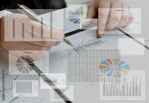 ビジネスイメージ―分析 Wallpaper Mural