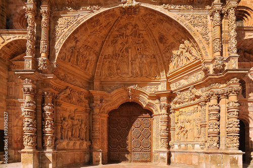 Portal of Santa Maria Cathedral in Astorga, Way of St. James, Castile and Leon, Spain