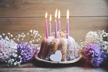 Grußkarte - Geburtstag Kuchen...