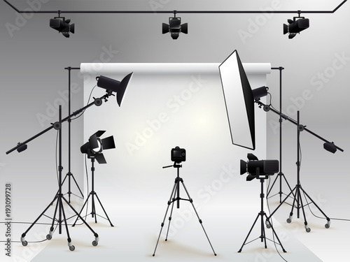 Valokuvatapetti Photography studio vector