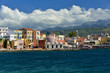 Promenade and Hasan Pasha Mosque in the old harbour of of Chania, Crete Island, Greece, Europe