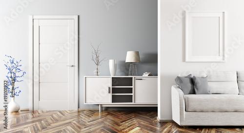 Photo Modern living room interior 3d rendering