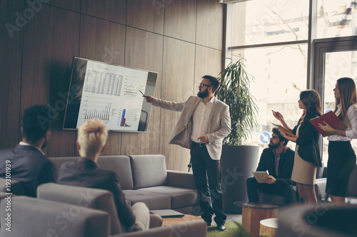 Cuadros en Lienzo  Business presentation