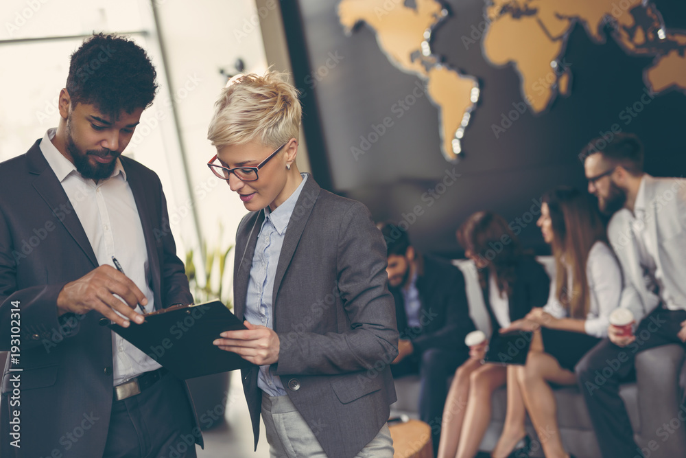 Fototapety, obrazy: Business people working