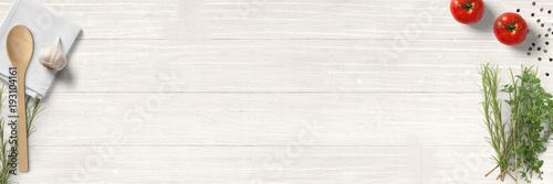 Spoed Foto op Canvas Aromatische Küche und Kochen - klassische Zutaten - Banner / Hintergrund