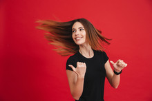 Image Of Energetic Woman With ...