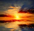 sunshine over water