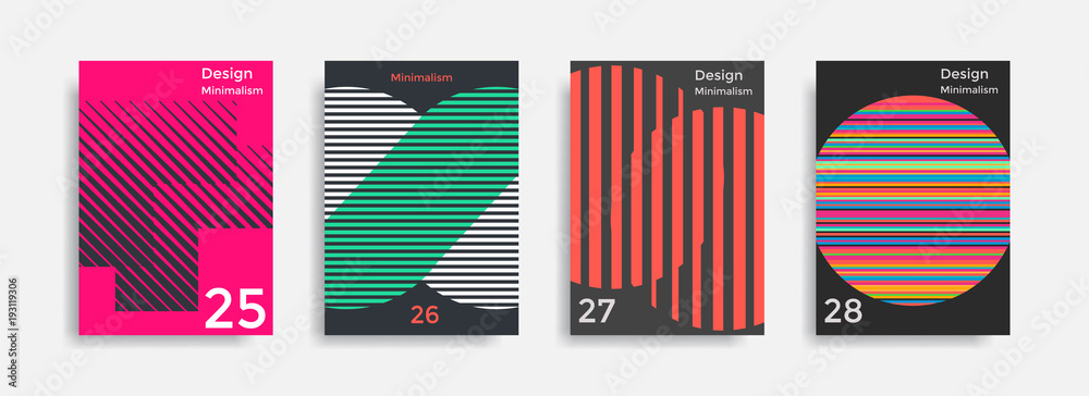 Fototapeta Covers templates collection with graphic geometric shapes