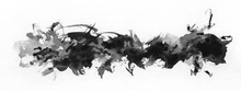 Abstract Painted Ink Strokes S...