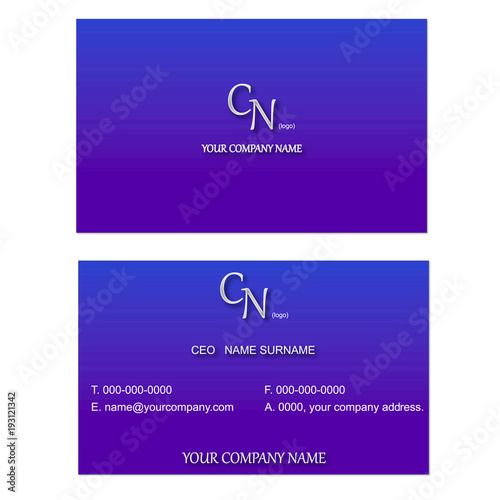 A simple stylish business card on a blue purple gradation a simple stylish business card on a blue purple gradation background vector colourmoves