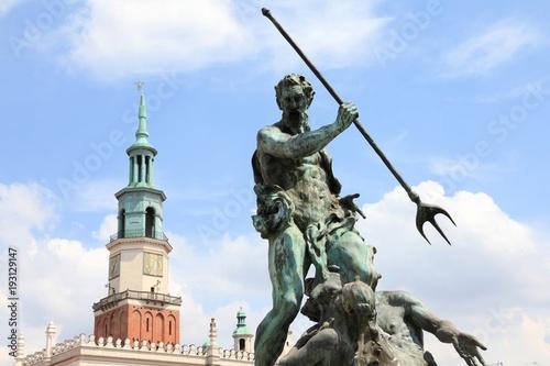 Poznan Neptune monument