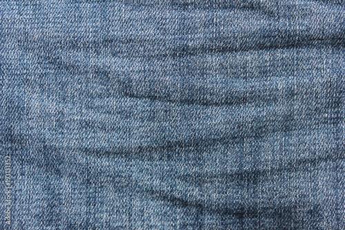 denim jeans texture background of dark blue crumpled classic jean