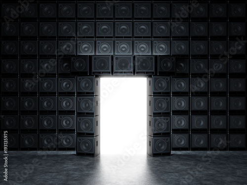 Photo  Epic portal of guitar amps