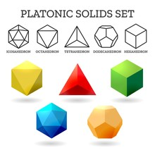 Platonic 3d Shapes. Platon Geo...