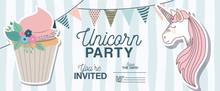 Unicorn Party Invitation Card ...